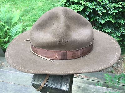 1920's Boy Scout Campaign Hat 'Montana peak' sz 6-7/8 excellent condition