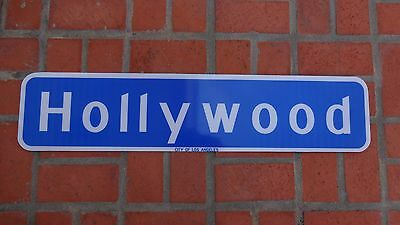 """AUTHENTIC HOLLYWOOD BLVD California Highway Road Sign CITY OF LOS ANGELES 36"""""""