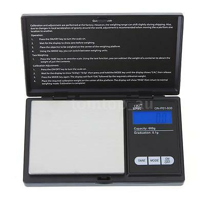 Mini Electronic Pocket Weight LCD Gram Digital Jewellery Scale 600g X 0.1g L9H3