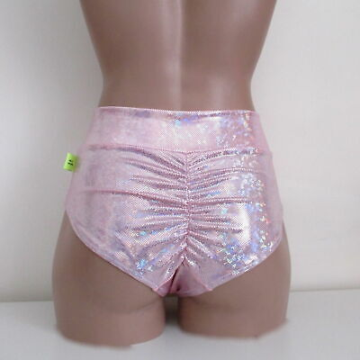 Schminke: hologram dance briefs festival high waist bottoms pants stage clothing