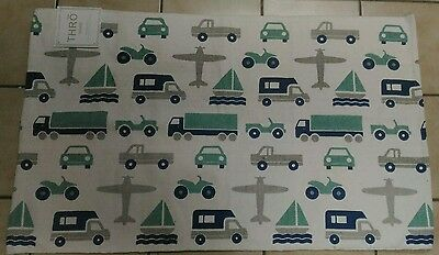 RARE THRO KIDS BOYS CHILDRENS PLANE BOAT CAR TRUCK BEDROOM AREA ACCENT RUG 27x46