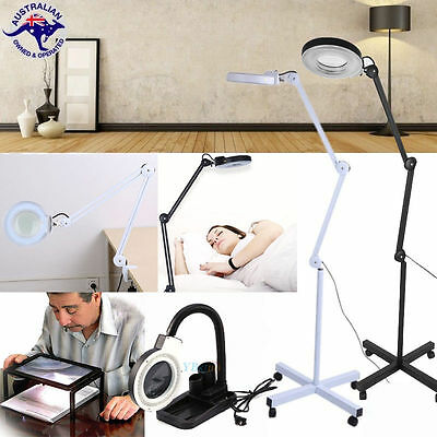 5x Magnifying Lamp Glass Round Head Beauty Magnifier Desk Clamp/Floor Stand