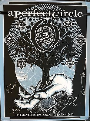 A PERFECT CIRCLE San Antonio TX Tour Poster 4/26/2017 Ltd Num SIGNED BY BAND