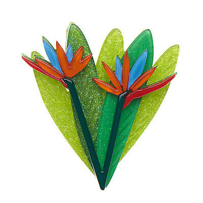Authentic Ltd Ed Erstwilder Brooch - Bird Of Paradise. New In Gift Box.