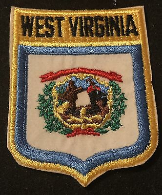WEST VIRGINIA Vintage Patch State Seal Souvenir Travel VOYAGER Embroidered