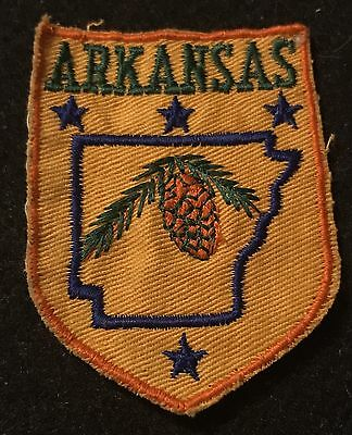 ARKANSAS Vintage Patch State Souvenir Travel VOYAGER Embroidered