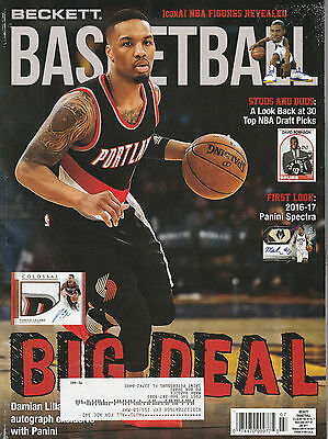 Beckett Basketball Card Monthly Price Guide July 2017 Damian Lillard Cover