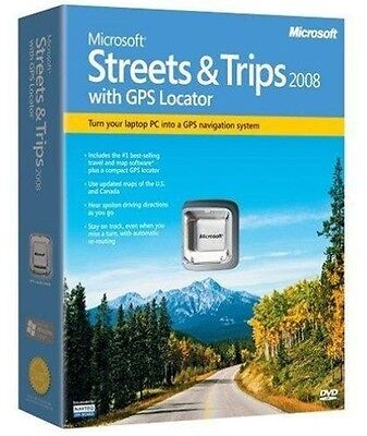 Microsoft Streets and Trips 2008 with GPS Locator