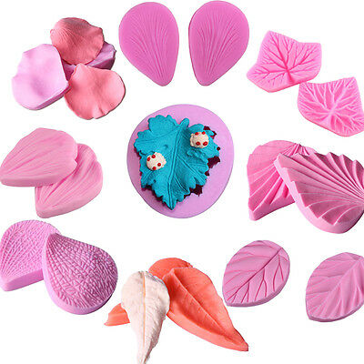 Flower Petal Fondant Silicone Mould Cake Decor Chocolate Sugar Baking Molds