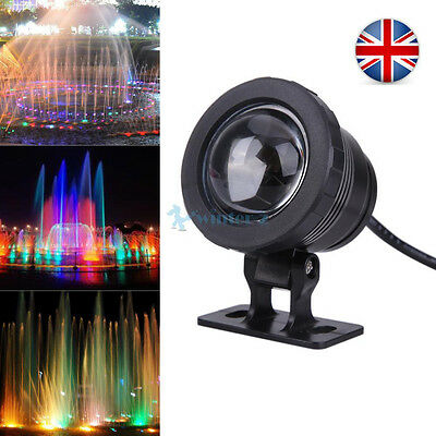 10W 16 Colors RGB LED Underwater Lamp Remote Controller Pool Pond Fountain Light