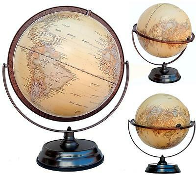 Easy View World Globe Double Axle Raised Relief Home Decor Wedding Gift 30x45 cm