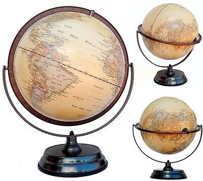 Embossed World Globe Raised Relief Antique StyleHome Decor Wedding Gift 30x45 cm