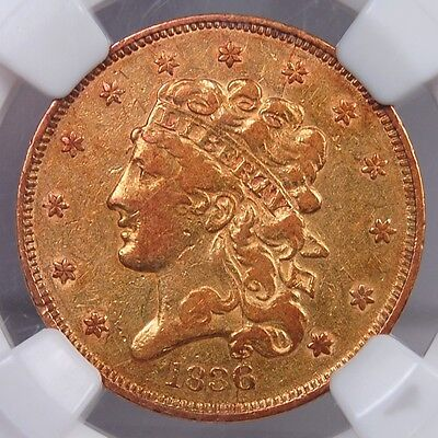 1836 Classic Head $5 Gold Half Eagle Ngc Vf30 Flashy Luster Of A Higher Grade