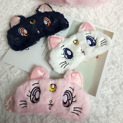 Sailor Moon Cosplay Cat Sleeping Eye Patch Mask Cover Travel Aid Blindfold Cute