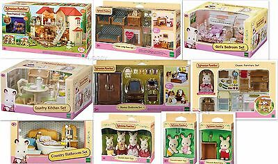 Sylvanian Families Beechwood Hall Doll House Huge Bundle 10 Items 4531 5033 5037