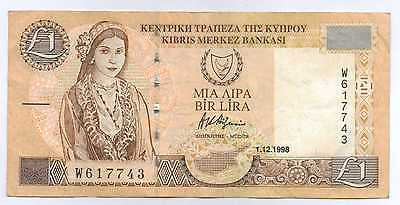 CYPRUS - 1 Pound 1998 Banknote (Circulated)