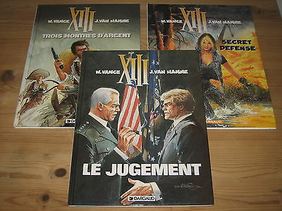 Lot 3 Bd Xiii, Tome 11 12 & 14 - Dargaud - Tous Les 3 Eo + Cote Be / Tbe
