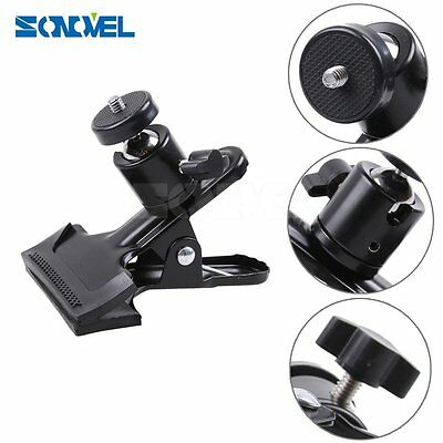 Spring Clamp Clip+360° Ball Socket Head for Studio Camera /Flash / Flash Trigger
