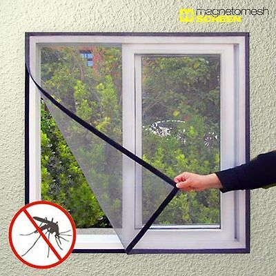 Magnetic Mesh Screen Mosquito Net For Windows - Anti Flying Insects Flies  Bees