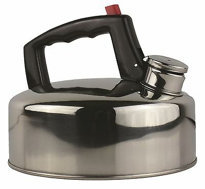 Yellowstone Stainless Steel Whistling Camping Caravan Stove Kettle - 2L