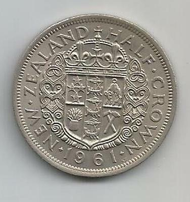 New Zealand - Half Crown - 1961