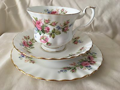 Royal Albert MOSS ROSE Trio - Cup Saucer Tea Plate - Afternoon Tea