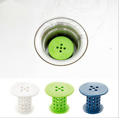 Drain Hair Stopper Cover Filter Sink Strainer Silicone Bath Kitchen Shower Use