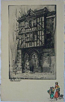 Vintage Postcard.the Fine Art Studio.old London (Ii)