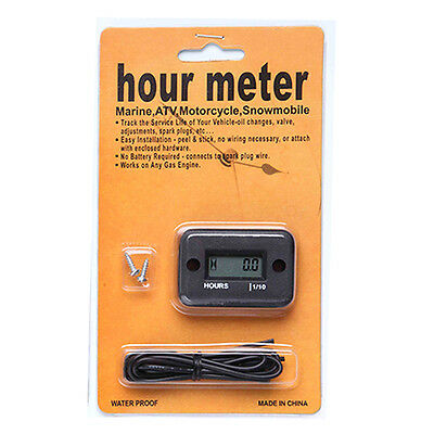 Waterproof Hour Meter Motorcycle Dirt Ski Mower Boat Bike Engine Digital LCD HOT