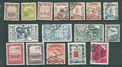 MANCHURIA - Japanese occupation of CHINA - Mint & used stamp collection