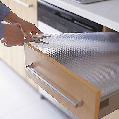 Clear Drawer Liner Rubber Kitchen Cupboard Mat Cabinet Table Protector Non Slip