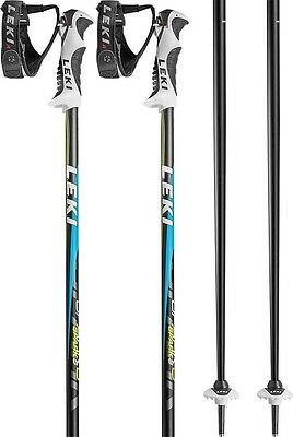 Leki Spark S Pair Of Ski Poles, 125cm, Black/Blue