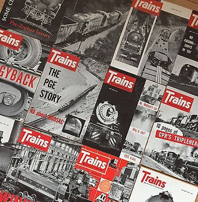 TRAINS: The Magazine of Railroading 1960 Complete Year 12 Issues!