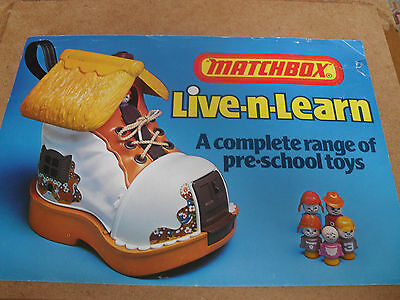 RARE MATCHBOX LIVE N LEARN TOY CATALOGUE 1980's UK EDITION V GOOD CONDITION