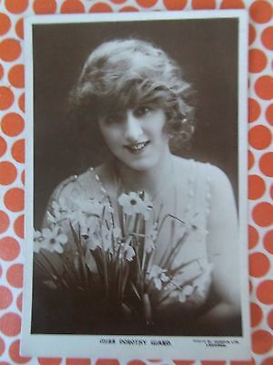 OLD VINTAGE RP POSTCARD  ACTRESS Dorothy Ward Edwardian with flowers