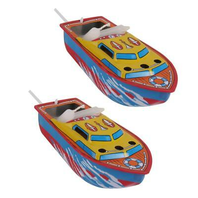 2Pcs Kid Classic Floating Pop Pop Candle Powered Boat Toy Steam Boat Tin Toy