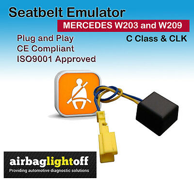 PASSENGER SEATBELT EMULATOR FOR C CLASS W203 and W209 CLK MODELS