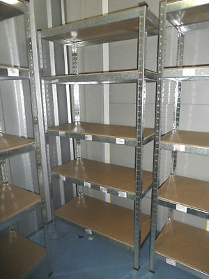 Metal Shelving Industrial Boltless Racking Garage Heavy Duty Shelf 5 Tier USED