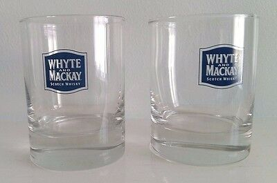 New 2 X Whyte And Mackay Scotch Whisky Glasses