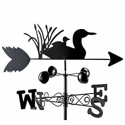 Roots & Shoots Duck Outdoor Garden Wind Speed Direction Spinning Weather Vane
