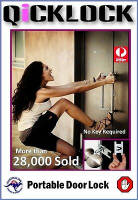 Personal Security Portable Door Lock Made of Seel Card Size.