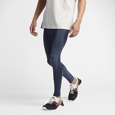 Men's NIKE NikeLab Essentials Tights - Size Small - 841590-471 - Thunder Blue