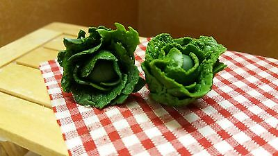 dolls house food 12th scale, set of cabbages - by Debbie