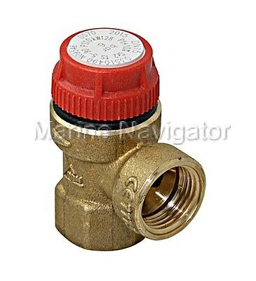 Valves Press Relief Valve 2.5bar 1/2bsp with gauge and fiittings    PRV37GF Building Materials & Supplies