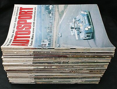 Lot Bundle of 40 Autosport Magazines from 1974