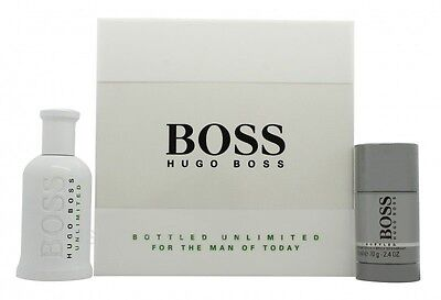 Hugo Boss Boss Bottled Unlimited Eau De Toilette Gift Set 100Ml Edt + 75G Deo St