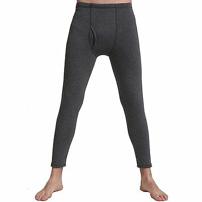 Liang Rou Men's Fleece Lined Stretch Thermal Pant,Dark Grey,US SmallXL