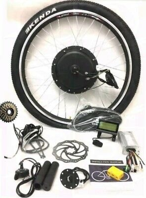 48V 1500W ELECTRIC BIKE REAR WHEEL CONVERSION KIT - LCD display without battery