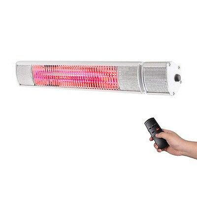 IP65 Wall Mounted Patio Infrared Heater With Remote Control