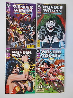 4x WONDER WOMAN - Heft Nr. 1 + 2 + 3 + 5. DC, Dino Comics. Z. 2